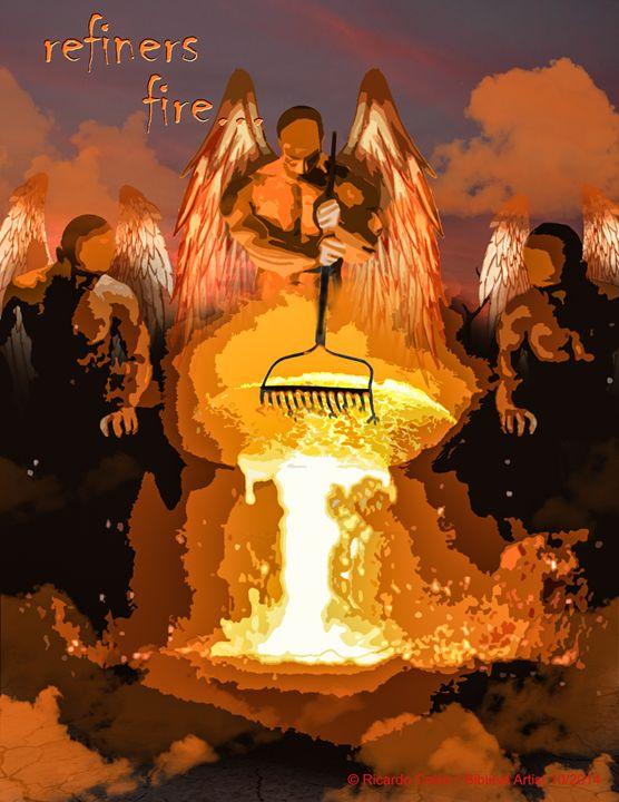 REFINERS FIRE - Prophetic art