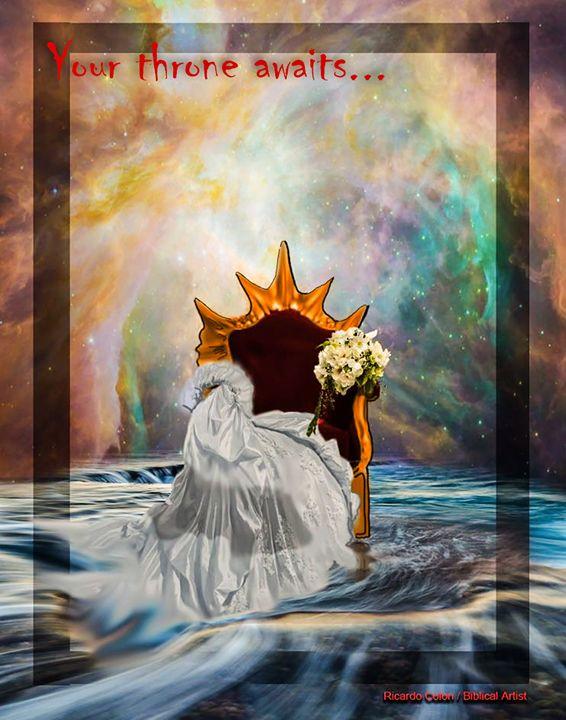 YOUR THRONE AWAITS - Prophetic art