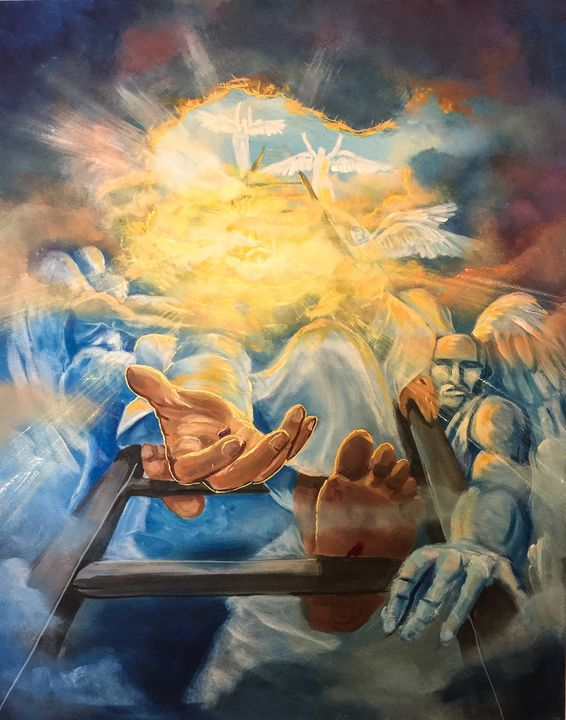 Jesus is in the house - Prophetic art/SilentPreacher - Paintings & Prints, People & Figures, Other People & Figures, Other - ArtPal