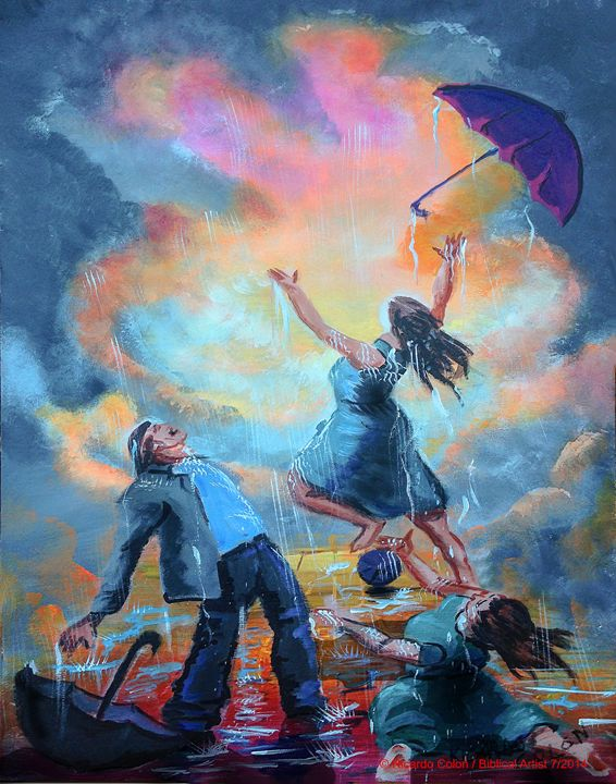 LET IT RAIN - Prophetic art