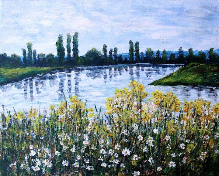 Yellow  and white flowers - Vesna Martinjak