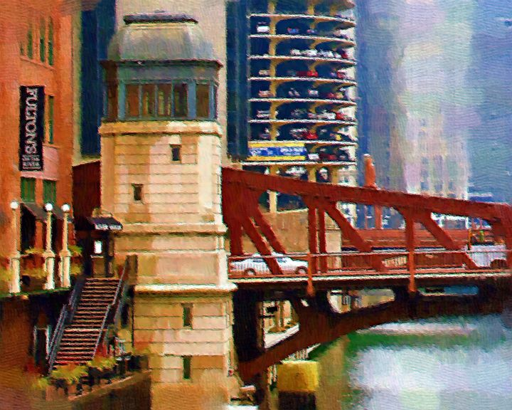 Clark St. Bridge Chicago - GullPhoto Art