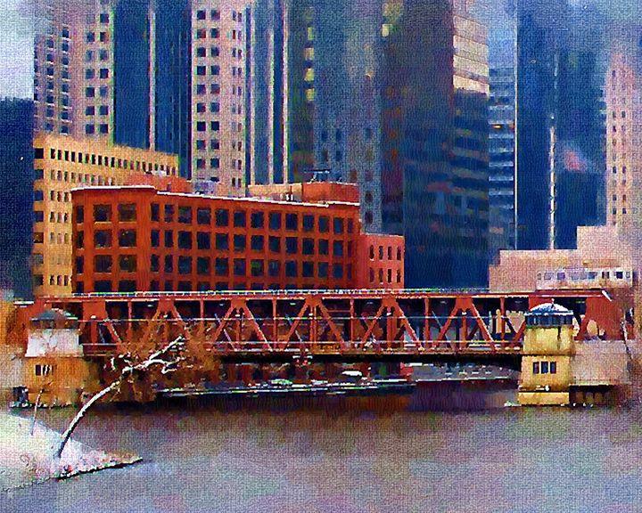 Well St over the Chicago River - GullPhoto Art