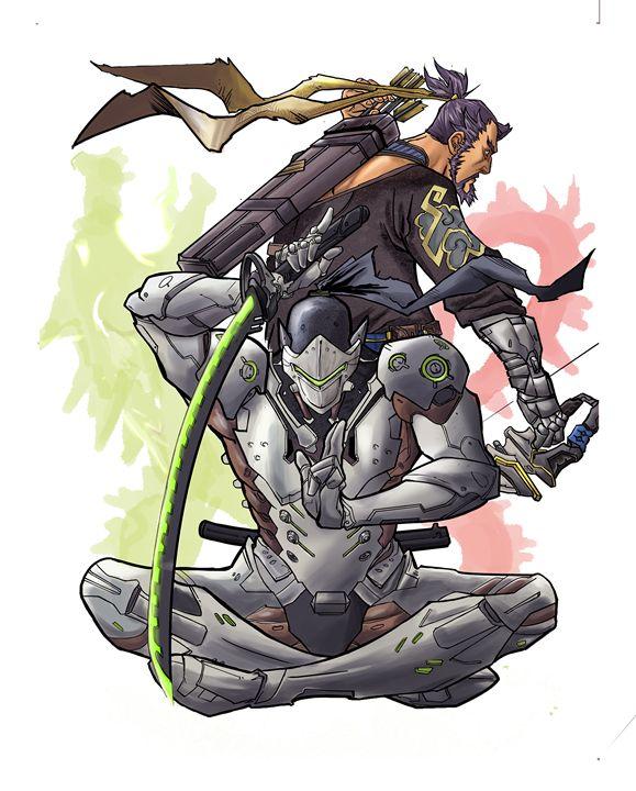 Hanzo and Genji, The Shimada dragons - GamersRespite