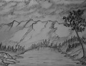 Landscape & Abstract Pencil Art
