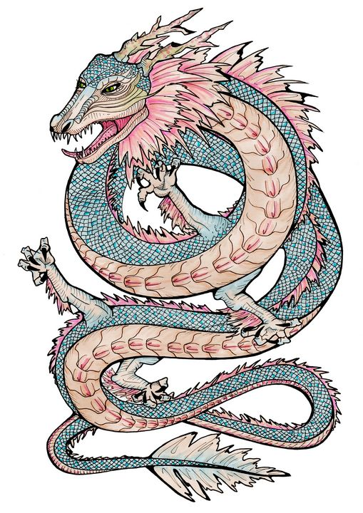 WATER DRAGON - Mickis the peach