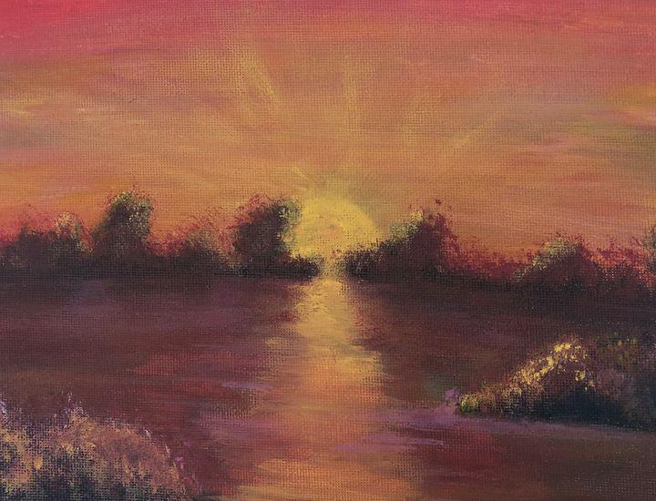 Sunset over a lake - Addison Nolder