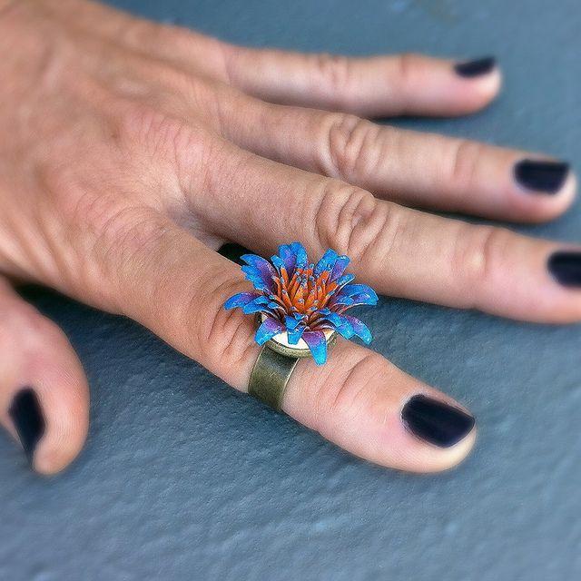 Chunky Passion Flower Ring - Kultof8