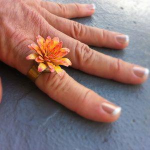 Harajuku Peach Flower Ring