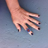 Blue Passion Flower Ring
