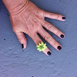 Green & Yellow Flower Ring