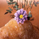 Chunky Flower ring in Lavendar