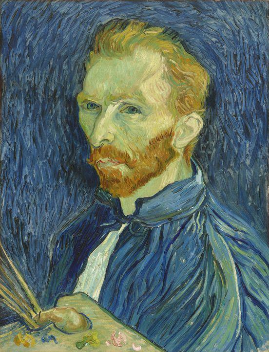 Vincent van Gogh Self-Portrait, 1889 - Public Domain Prints