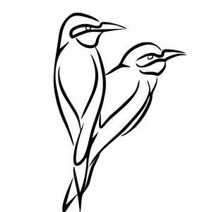 Two birds illustration sketch