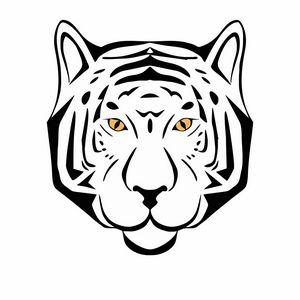Tiger head tribal sketch