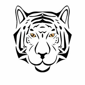 Tribal tiger head sketch