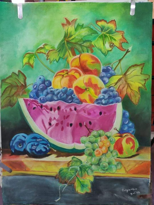 Fruits by Soft Pastels - Paintings by Priyanka