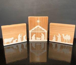 Three Piece Nativity Scene