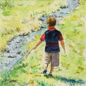 Boy With A Stick