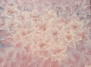 Pink abstract flowers