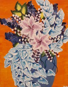 Orange blue pinwheel