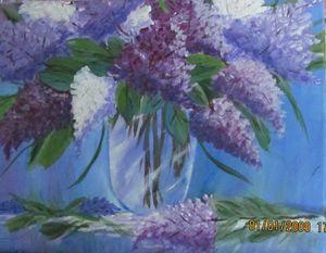Vase of Lilacs - Sue's Art