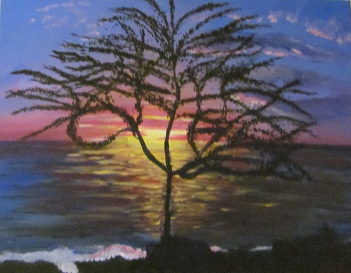 Hawaii  Sunset - Sue's Art