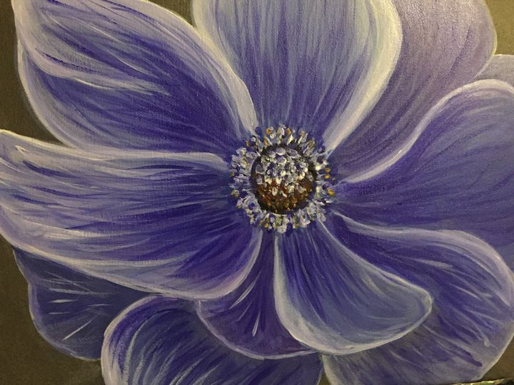 BLUE ANEMONE - Sue's Art