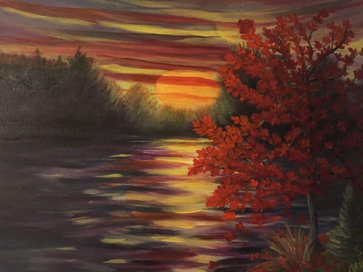 AUTUMN SUNSET - Sue's Art