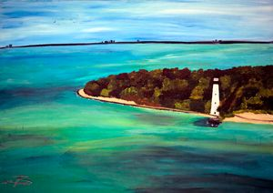 Cape Florida Light / 02 - Heijdi's fantastic painted World