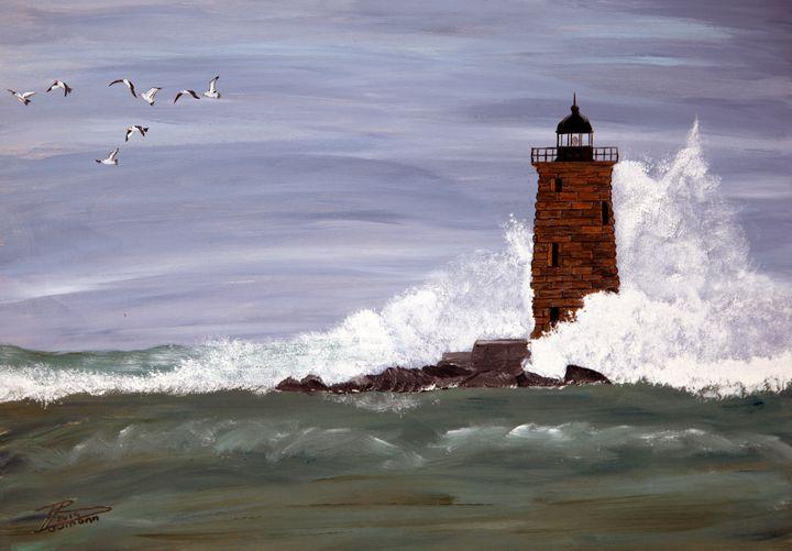 Whaleback Lighthouse - Heijdi's fantastic painted World