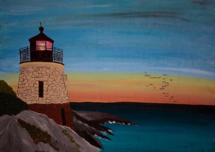 Castle Hill Light / 01 - Heijdi's fantastic painted World