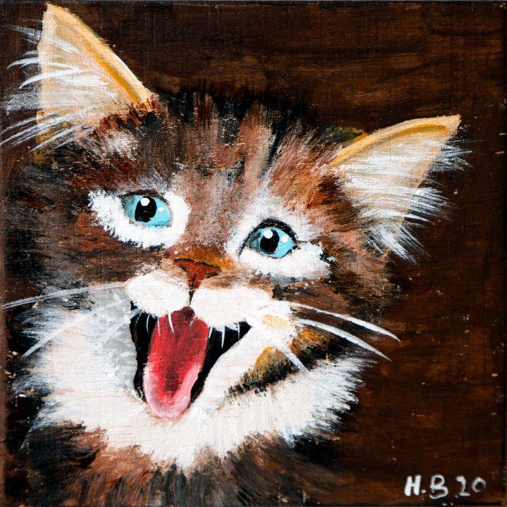 Cat - 01-LSU - Heijdi's fantastic painted World
