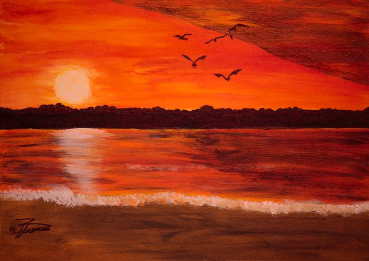Outer Banks Sunset / 01 - Heijdi's fantastic painted World