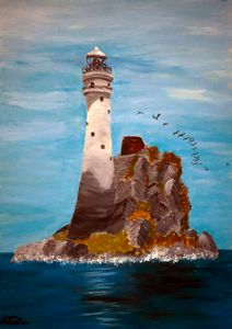Fastnet Rock Light / 01 - Heijdi's fantastic painted World