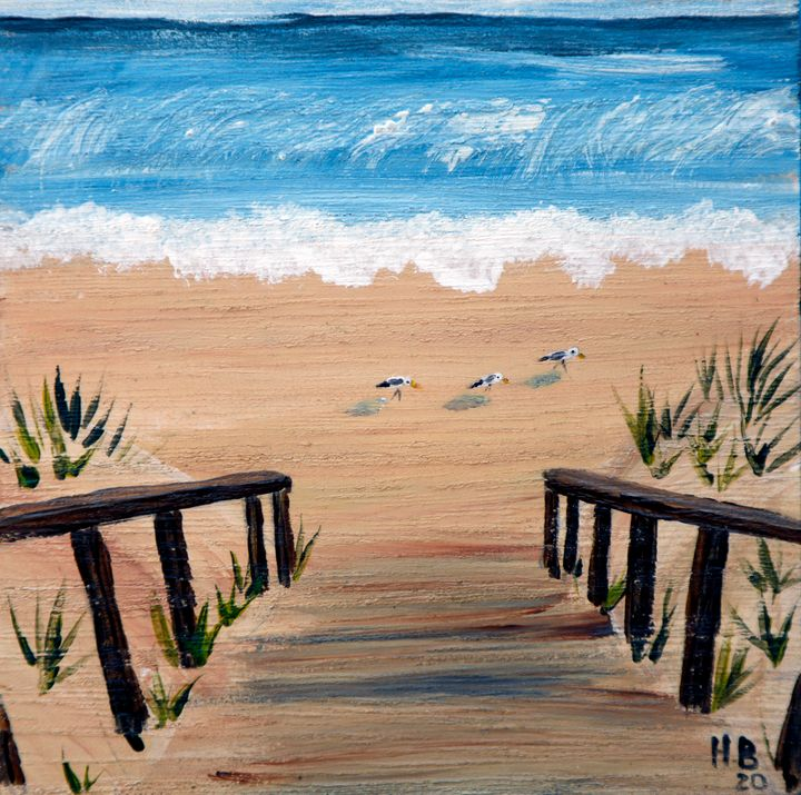 Little Stairs to the Sea - LSU - Heijdi's fantastic painted World