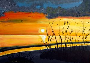 Outher Banks Sunset - 02 - Heijdi's fantastic painted World