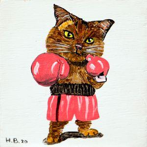Fighting Cat - LSU - Heijdi's fantastic painted World