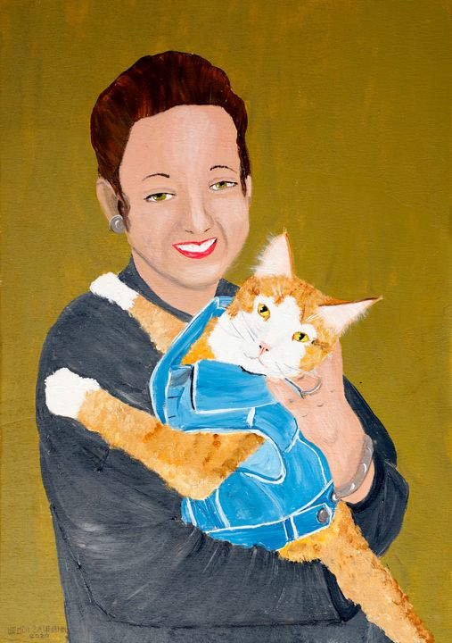 The Lady and the Cat - Heijdi's fantastic painted World