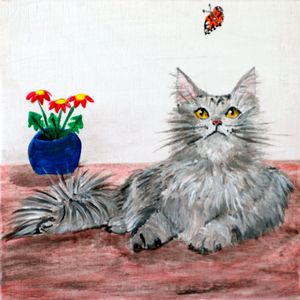 Hunter Cat - 01-LSU - Heijdi's fantastic painted World