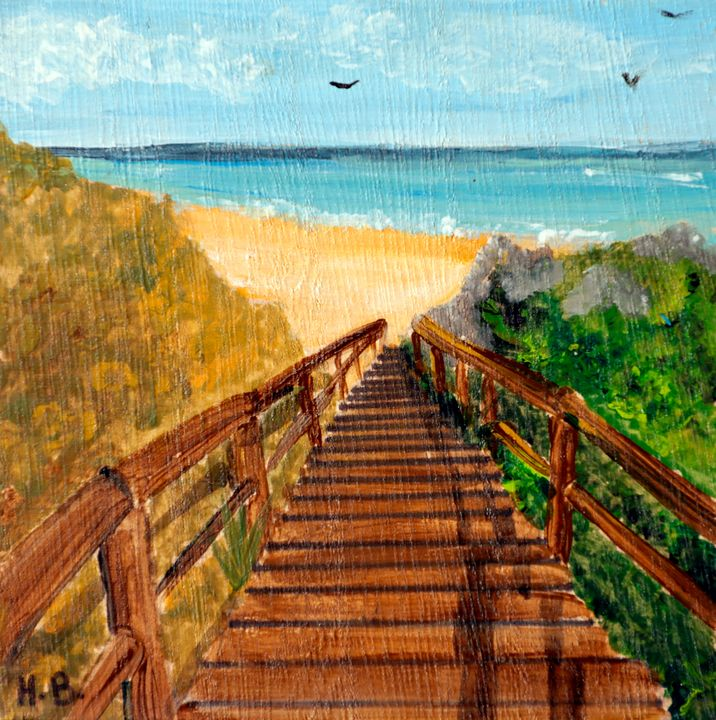 Stairway to the Sea - 01-LSU - Heijdi's fantastic painted World