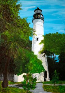 Key West Lighthouse / 01 - Heijdi's fantastic painted World