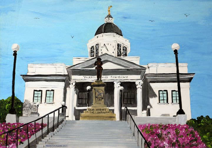 Jackson County Courthouse - Heijdi's fantastic painted World