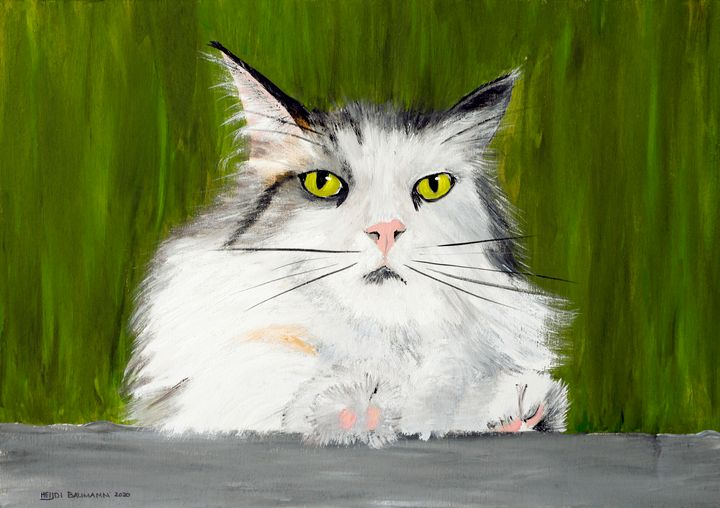Keanu on Guard Duty - Heijdi's fantastic painted World