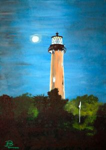 Jupiter Inlet Light / 02 - Heijdi's fantastic painted World