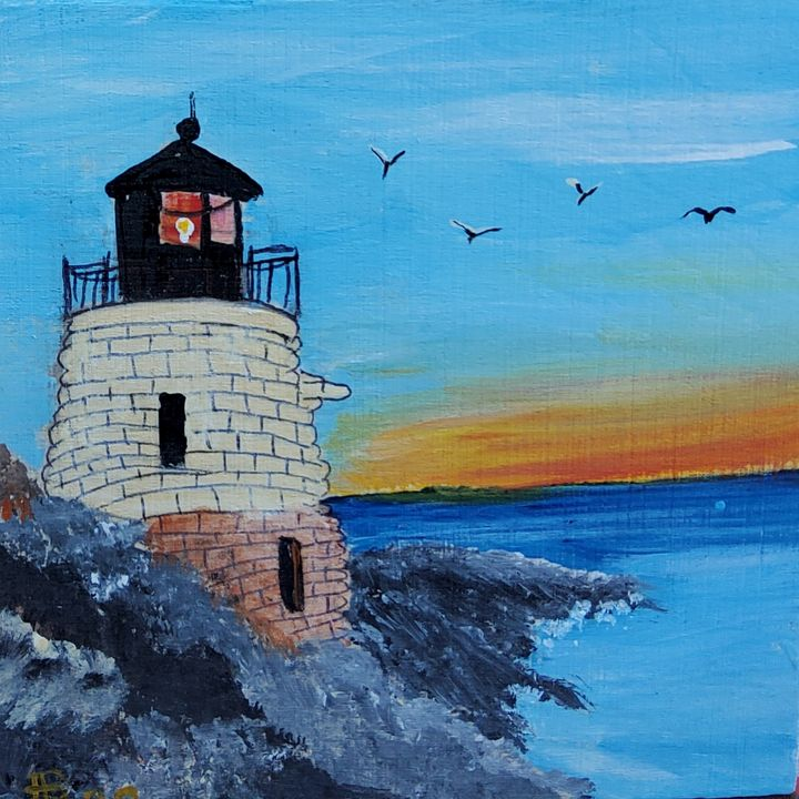 Castle Rock Light - LSU - Heijdi's fantastic painted World