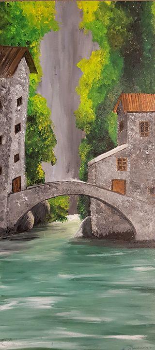 The old bridge - Heijdi's fantastic painted World