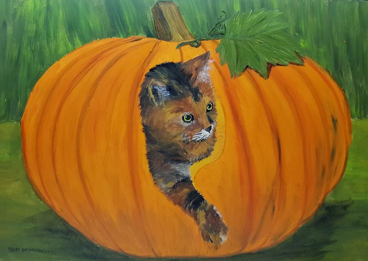 """Halloween Cat This year I'm """"carving - Heijdi's fantastic painted World"""