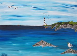 The gull's protest - Heijdi's fantastic painted World