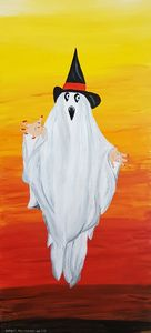Happy Halloween ghost - Heijdi's fantastic painted World